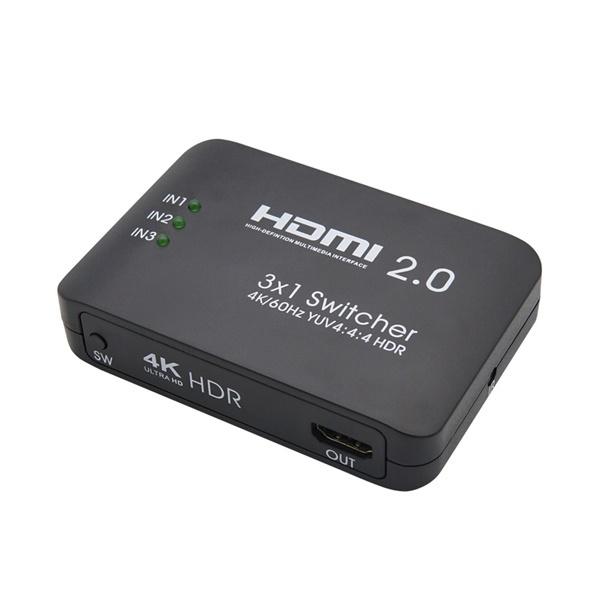 Coms FW759 [모니터선택기/HDMI/3:1/4K/오디오미지원]
