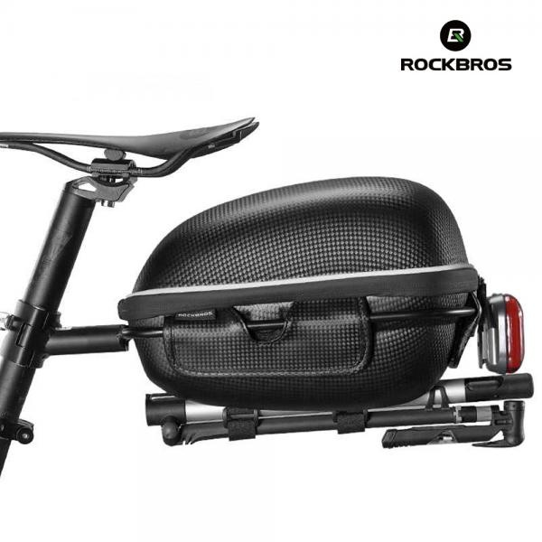 자전거가방 간편설치 하드쉘 대용량 짐받이가방 F2-1BK