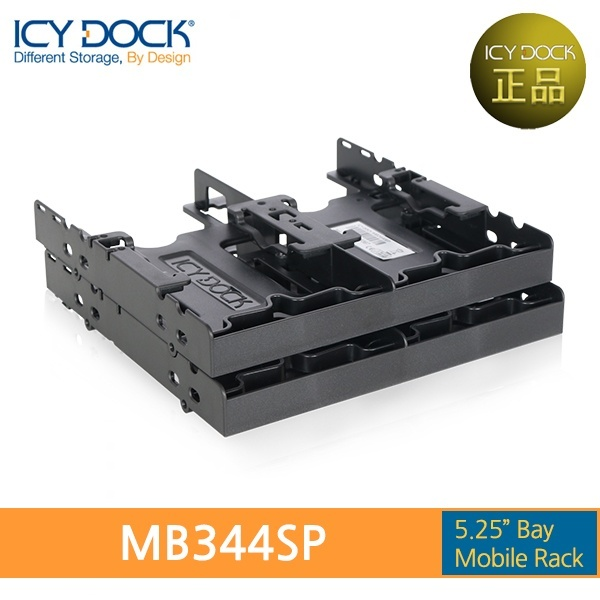 ICYDOCK 하드랙 MB344SP-B (5.25베이 1개 사용 [2.5형 SSD/HDD 4개 장착])