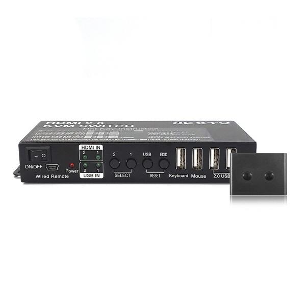 NEXT-7012KVM-KP (HDMI KVM스위치/2:1/USB/케이블 포함)