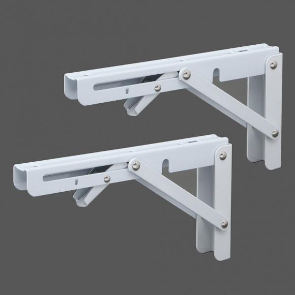 [GTS38605] 영달철물 벽고정 접이식 선반대 2p세트(20cm) (화이트)