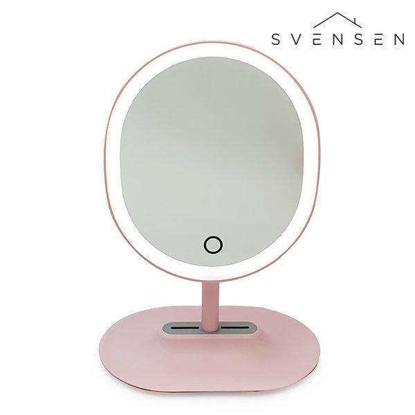[SVENSEN] 스벤슨 LED 마그네틱 탈착 조명 조절 거울(핑크)