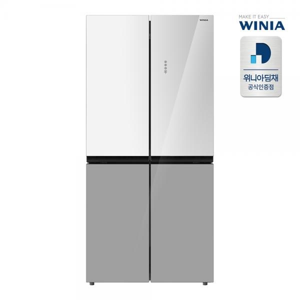 컬러글래스 479L 세미빌트인 양문형 냉장고 ERB48DWG
