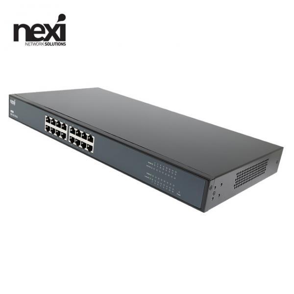 넥시 NX-SG1016 NX1136 [스위칭허브/16포트/1000Mbps]