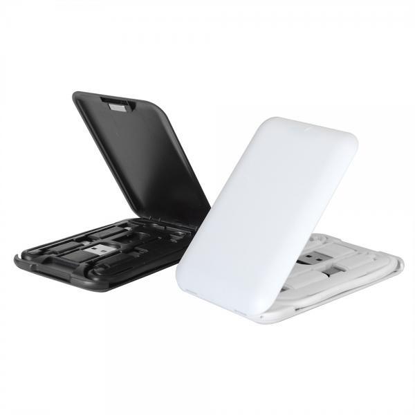 이노타임 6in1 포켓 멀티 충전 케이블박스/키트/C타입/5핀/USIM보관/여행용