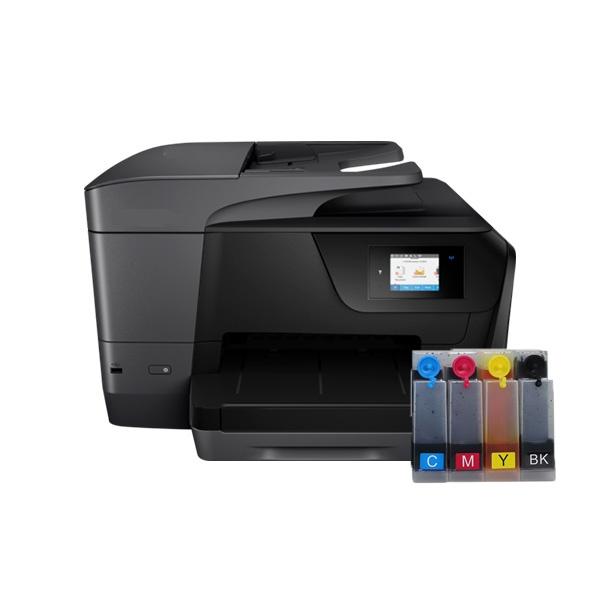 HP Officejet Pro 8715 무한잉크 복합기 (병행수입) + 휘슬러 무한공급기 [1000ml]