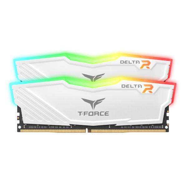 T-Force DDR4 64G PC4-28800 CL18 Delta RGB 화이트 (32Gx2) 서린