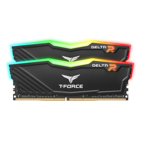 T-Force DDR4 64G PC4-28800 CL18 Delta RGB 블랙 (32Gx2) 서린
