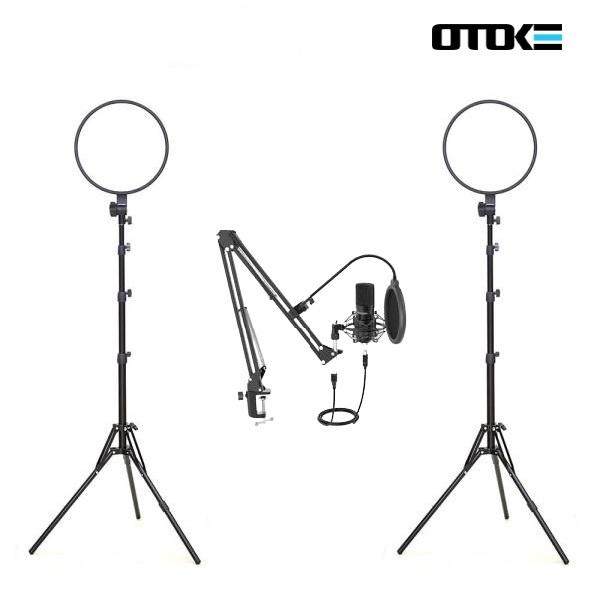 오토케 개인방송장비 세트 R21 알패드33 T730 PC 마이크 LED 라이트 온라인 수업 강의 유튜브 게임방송 BJ