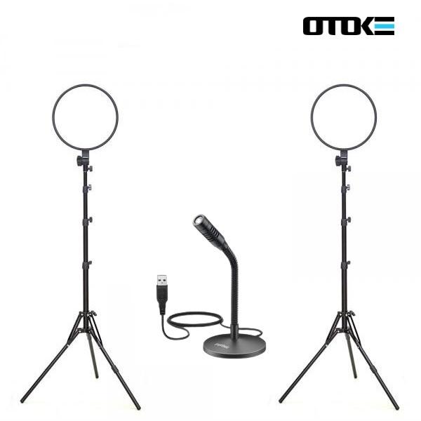 오토케 개인방송장비 세트 R23 알패드33 K050 PC 마이크 LED 라이트 온라인 수업 강의 유튜브 게임방송 BJ