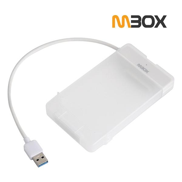 외장케이스, MBOX HS-2500N [2.5외장케이스/USB3.0] [하드미포함/반투명]