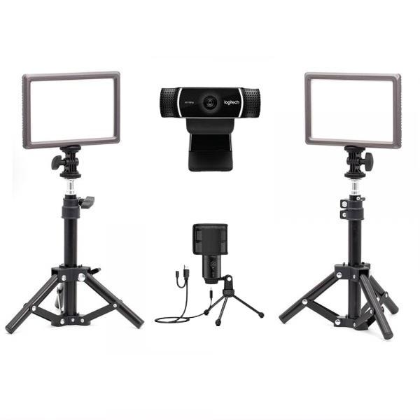 로지텍 C922 개인방송장비 세트 I 온라인 수업 강의 유튜브 게임방송 아프리카 BJ K683A 룩스패드22H