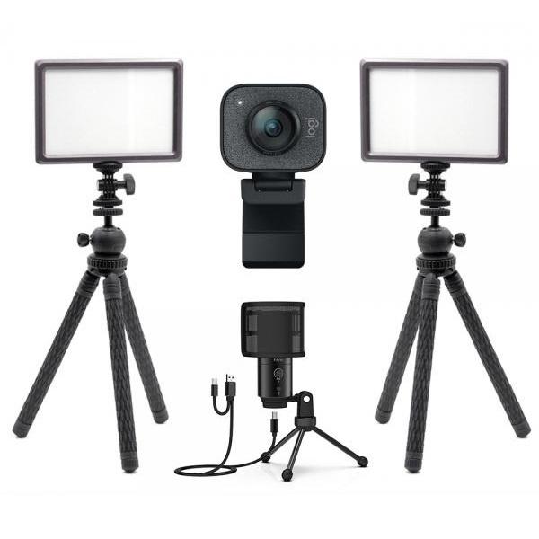 로지텍 스트림캠 실시간 개인방송 세트 I2 룩스패드22H Stram Cam FIFINE K683A 유튜브 아프리카 방송