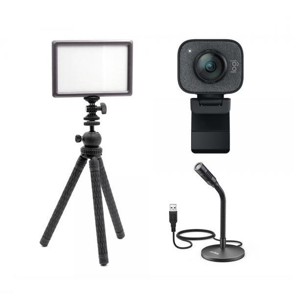 로지텍 스트림캠 실시간 개인방송 세트 K 룩스패드22H Stram Cam FIFINE K050 유튜브 아프리카 방송