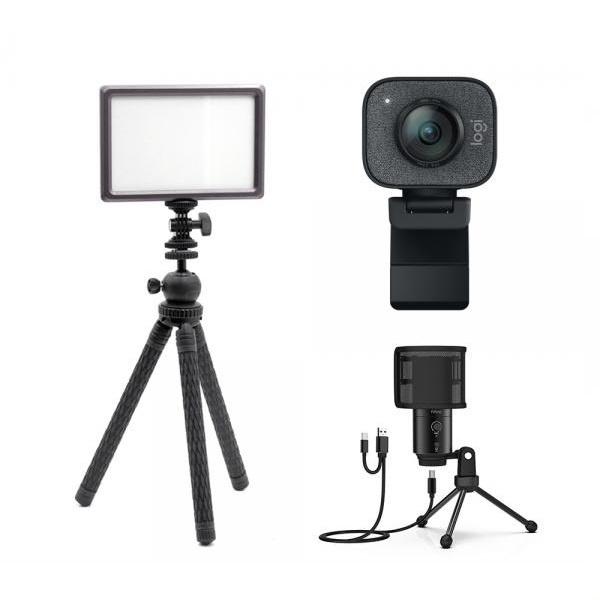 로지텍 스트림캠 실시간 개인방송 세트 I 룩스패드22H Stram Cam FIFINE K683A 유튜브 아프리카 방송