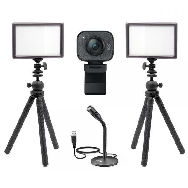 로지텍 스트림캠 실시간 개인방송 세트 K2 룩스패드22H Stram Cam FIFINE K050 유튜브 아프리카 방송