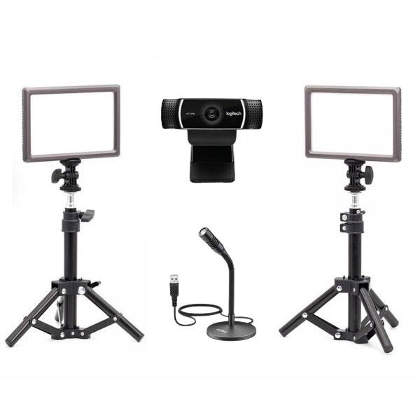 로지텍 C922 개인방송장비 세트 K 온라인 수업 강의 유튜브 게임방송 아프리카 BJ K050 룩스패드22H