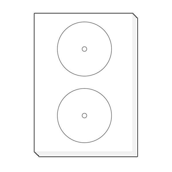 CD.DVD용 라벨지, 17.5mm [2칸/100매]
