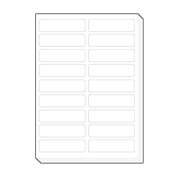 물류표기용 라벨지 [18칸/100매]