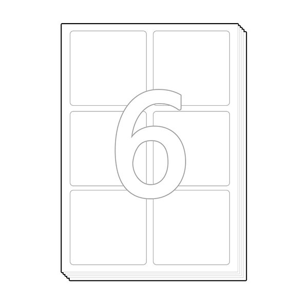 소화물용 물류표기용 라벨지 [6칸/100매]