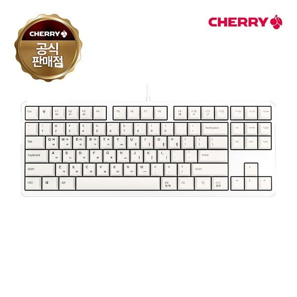 유선 기계식 미니키보드, G80-3000S TKL, G80-3830LSAKR-0, 클릭 청축 [화이트/USB]