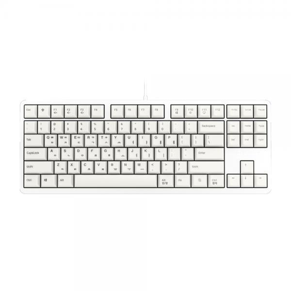 유선 기계식 미니키보드, G80-3000S TKL, G80-3830LXAKR-0, 넌클릭 갈축 [화이트/USB]