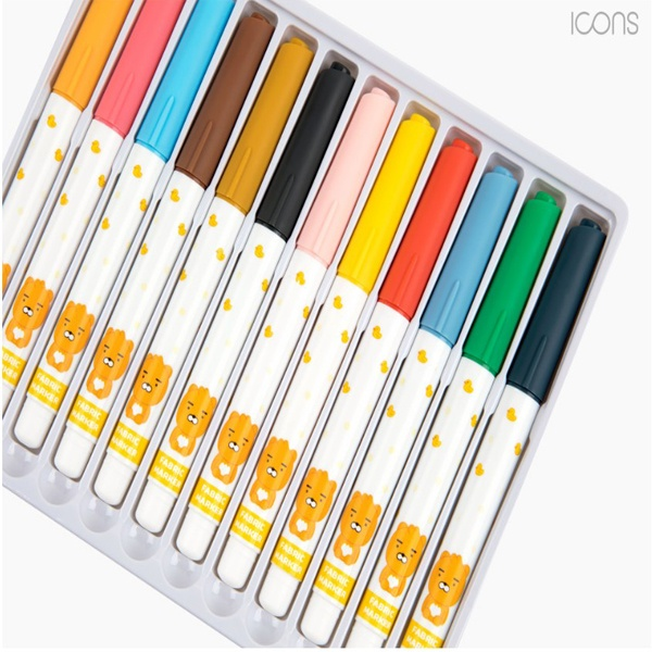 색연필 패브릭마커 12색 세트