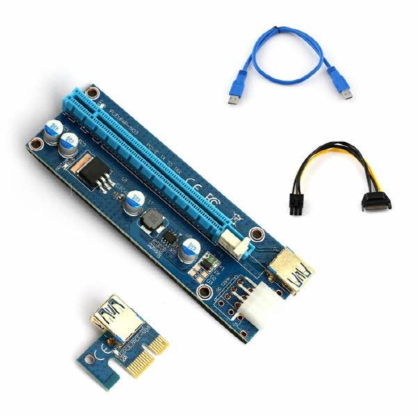 라이저카드PCI-E 1x TO 16x 라이저카드 VER 009S LED
