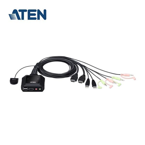 에이텐 CS22H [KVM스위치/2:1/USB/케이블일체형]