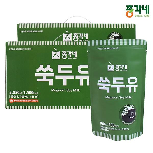 국내산 검은콩 무첨가 쑥두유 190ml 30포