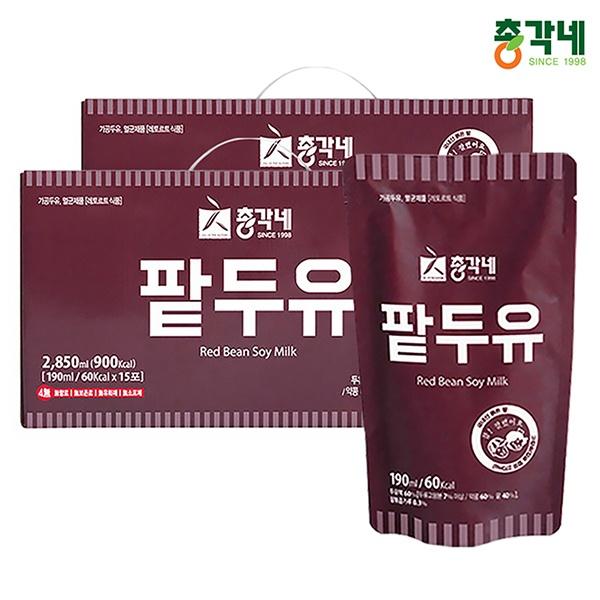 국내산 검은콩 무첨가 팥두유 190ml 30포