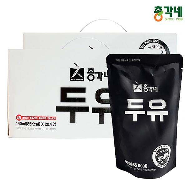 국내산 검은콩 무가당두유 190ml 40포