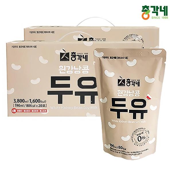 흰강낭콩 두유 190ml 40포