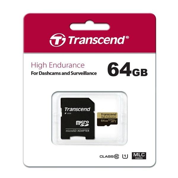 [Transcend] MicroSDHC/XC, High Endurance, Class10, MLC (블랙박스전용) MicroSDXC 64GB [TS64GUSDHC10V]