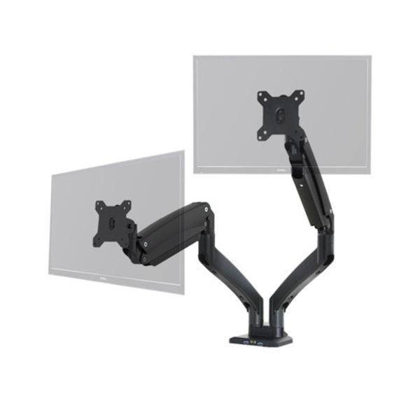 클램프형 듀얼 암, PMA-2DU [22~35형] [블랙]