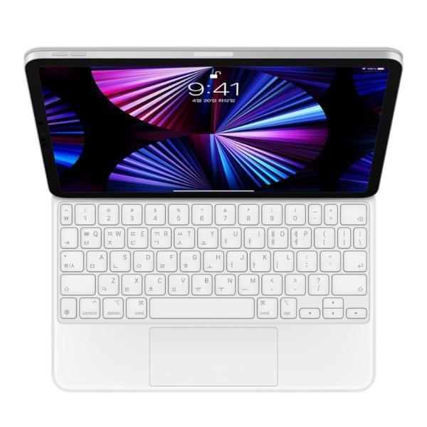 11형 iPad Pro(3세대) 및 iPad Air(4세대)용 Magic Keyboard - 한국어 [MJQJ3KH/A] [화이트]