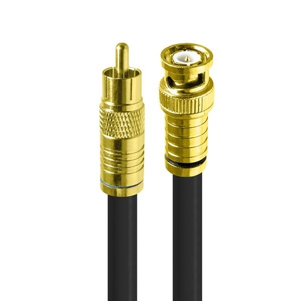 HDTOP 국산 RCA to BNC 동축 케이블 [블랙/2M] [HT-ZGCB020]