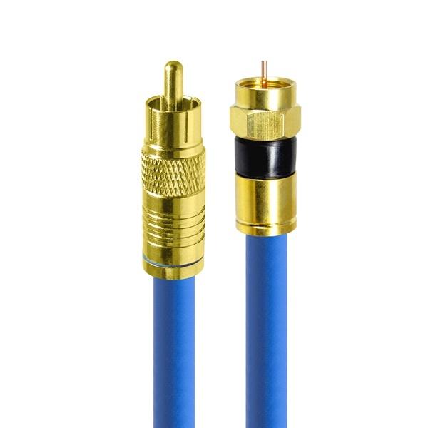 HDTOP 국산 RCA to RF 동축 케이블 [블루/7M] [HT-ZBGCR070]