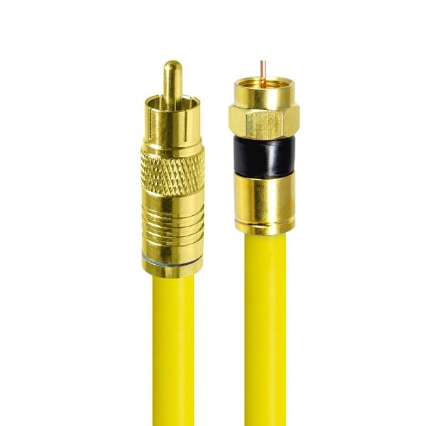 HDTOP 국산 RCA to RF 동축 케이블 [옐로우/2M] [HT-ZYGCR020]