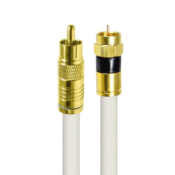 HDTOP 국산 RCA to RF 동축 케이블 [화이트/3M] [HT-ZWGCR030]