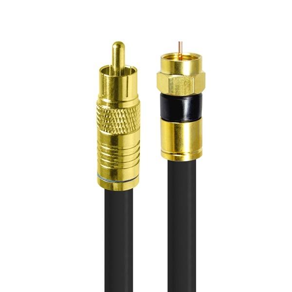 HDTOP 국산 RCA to RF 동축 케이블 [블랙/15M] [HT-ZGCR150]