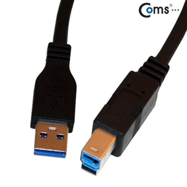 컴스 USB 3.0 케이블 (흑색/AB형) 1.8M [C3493]