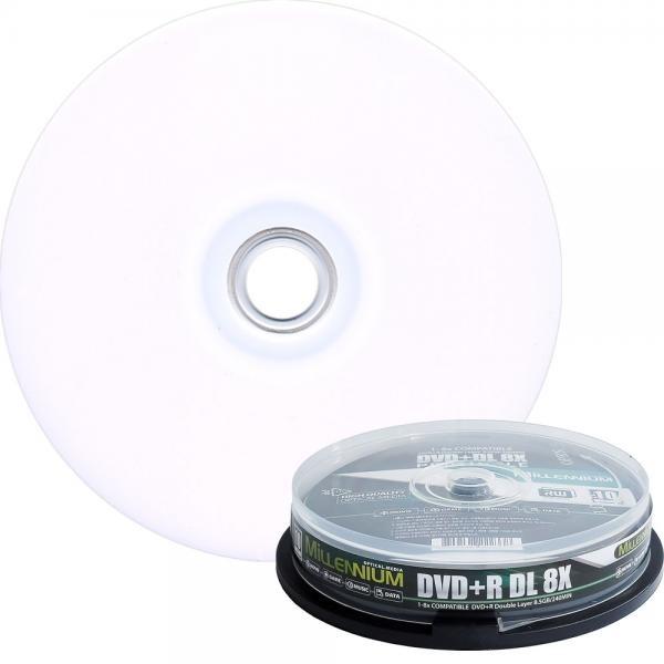 DVD+R, 프린터블/더블레이어, 8배속, 8.5GB [케익통/10매]