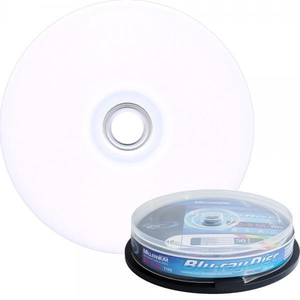 블루레이, BD-R 프린터블, 6배속, 50GB [케익통/10매]