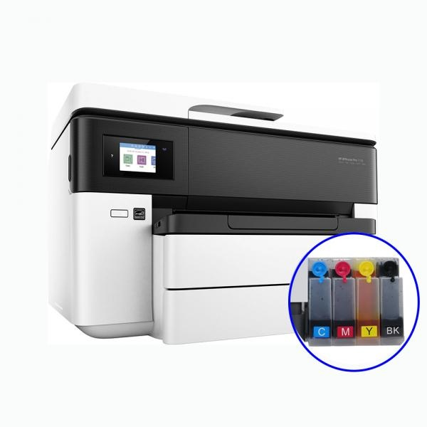 [HP(병행)] HP Officejet Pro 7730 무한잉크 복합기 (병행수입) + 휘슬러 무칩 무한공급기 [1440ml]