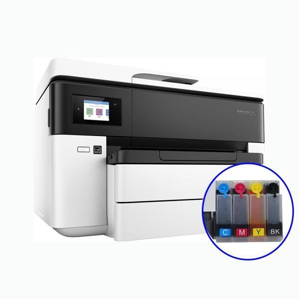 [HP(병행)] HP Officejet Pro 7730 무한잉크 복합기 (병행수입) + 휘슬러 무칩 무한공급기 [840ml]