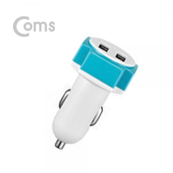 Coms G POWER 고속 차량용 2포트 충전기 WHITE / 5.3V 4.5A / 케이블 미포함