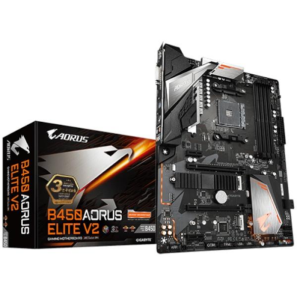 B450 AORUS ELITE V2 제이씨현 (AMD B450/ATX)