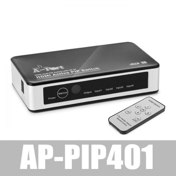 A-PORT AP-PIP401 [모니터 선택기/4:1/HDMI/오디오 지원]
