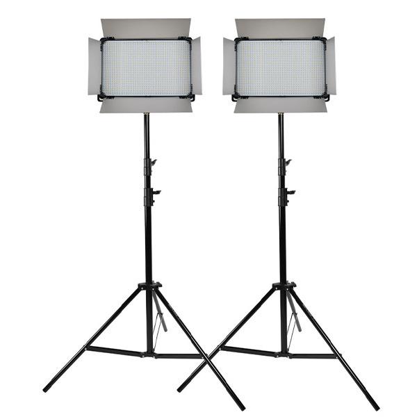 큐브모아 영상 방송LED조명 스탠드 더블세트 D-2500Ⅱ